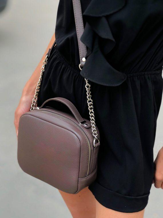 Кожаная сумочка Cuba С093 (лиловая)