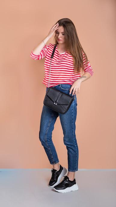 Кожаная сумочка Brilliance С119 (чёрная)