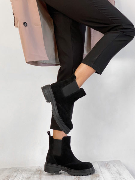 Замшевые—ботинки-челси-Dream-BT108Z-(черные)