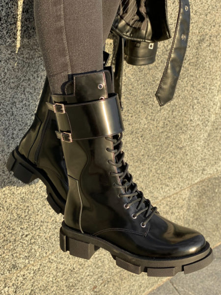 Кожаные-ботинки-Combat-BT112-(черный-лак)-(2)