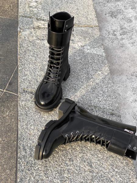 Кожаные-ботинки-Combat-BT112-(черный-лак)-(4)