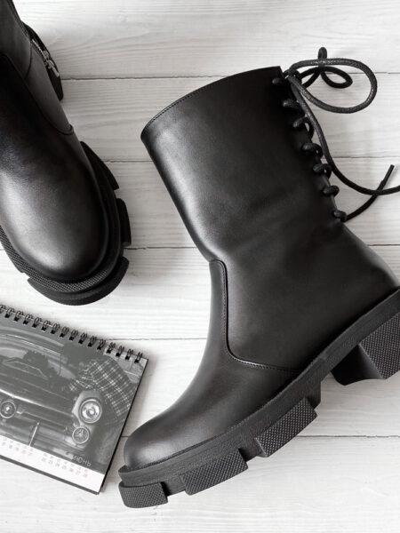 Кожаные-ботинки-Denver-BT111-(черный)-флет-(2)