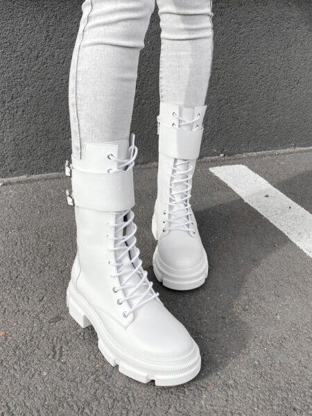 Кожаные-ботинки-Combat-BT112-(белый)-(5)